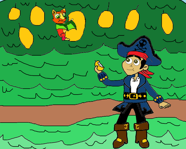 File:Captain Jake and Mango eating mangoes together.png