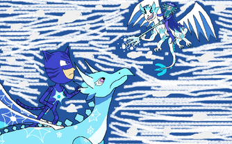 Catboy and Shiver Jack's Ice Dragon Battle
