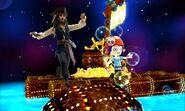 Jack Sparrow and Mii DF - DMW2