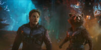 Rocket and Peter Quill