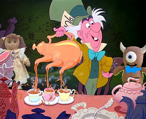 File:Tea Party Rag Doll with Ditsy Floral Hatter Bear disney crossover.jpg