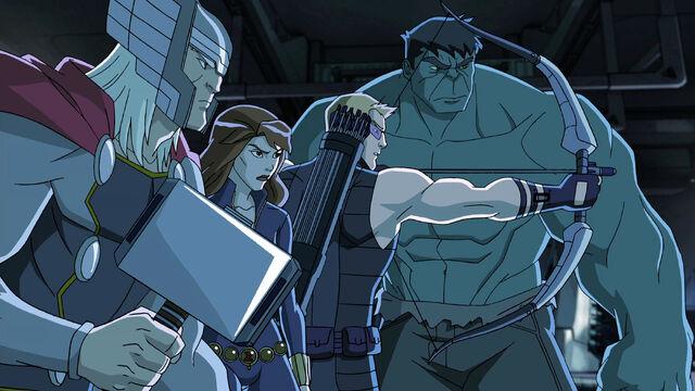 File:Avengers Assemble - Thor- Widow-Hawkeye- Hulk.jpg