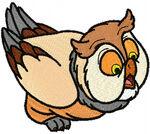 Frriend owl embroidery design