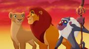 Simba, Nala, and Rafiki after Janja's defeat