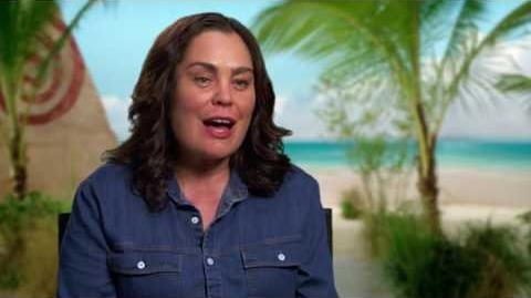 """Moana """"Gramma Tala"""" On Set Interview - Rachel House"""