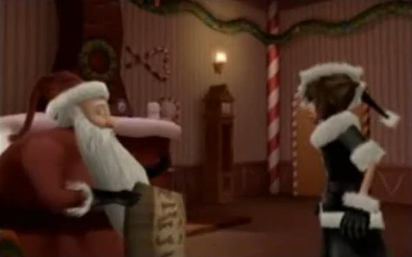 File:KH2FM - Sora meets Santa.PNG