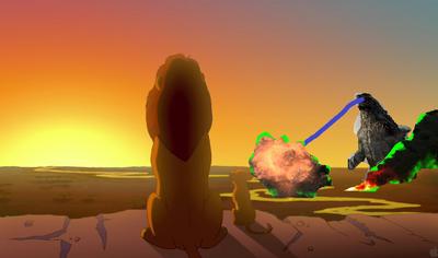 Godzilla in Lion King