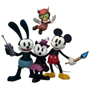Ortensia Oswald gus and mickey Disney Epic Mickey 2