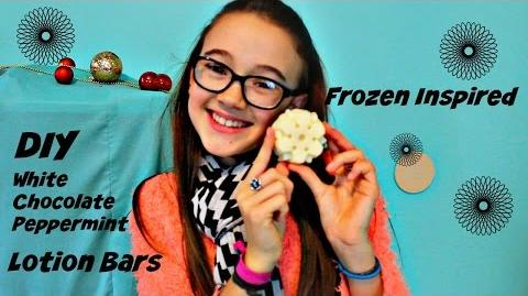 Easy DIY Lotion Bars Frozen Inspired Snowflake White Chocolate Peppermint
