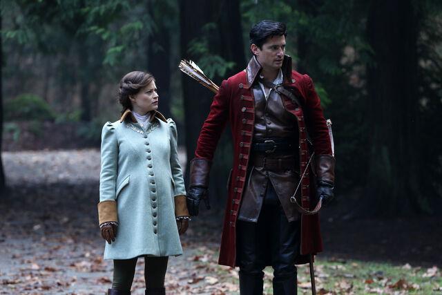 File:Once Upon a Time - 5x17 - Her Handsome Hero - Publicity Images - Belle & Gaston 2.jpg