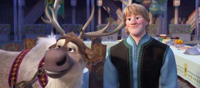 File:Frozen Fever Kristoff and Sven.png