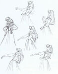 Sleeping beauty disney drawing model sheet 4