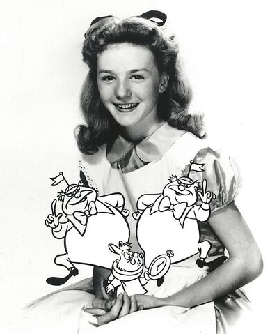 File:Kathryn Beaumont with added alice characters.jpg
