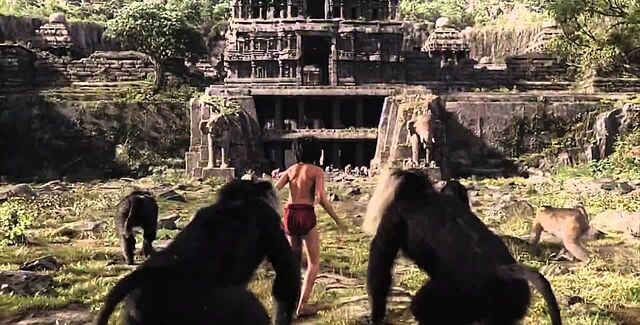 File:The Jungle Book Monkeys and Mowgli.jpg