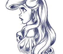 File:Ariel-black-and-white-disney-disney-princess-fan-art-girl-101465.jpg