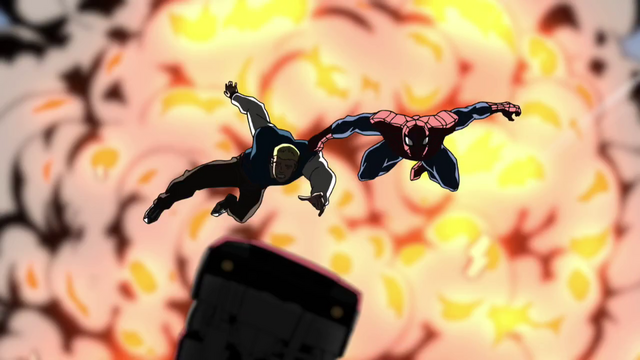 File:Spider-Man Rescues Flash Thompson.png