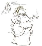 Mrs. Potts Human Concept Art