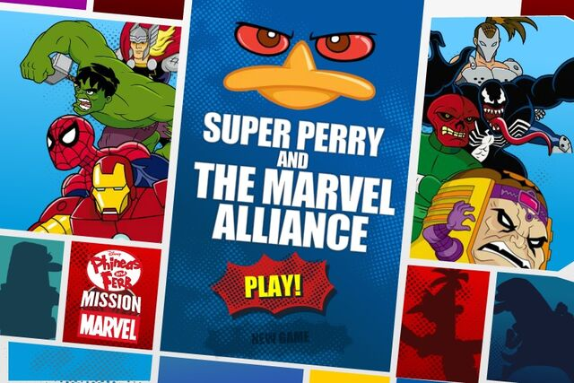 File:Phineas and Ferb - Super Perry and The Marvel Alliance menu card.jpg