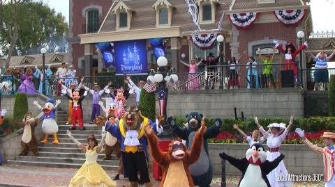 HD Disney Characters Dancing during Disneyland's 59th Birthday Celebration