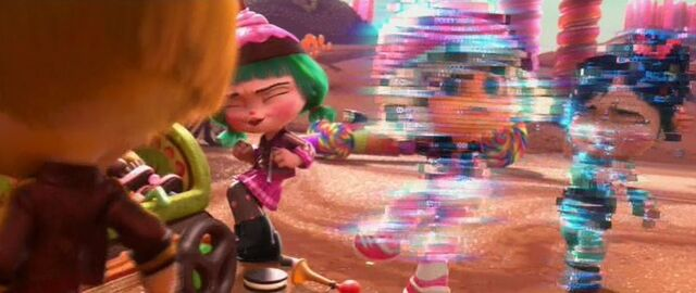 File:Vanellope and Taffyta glitching together.JPG