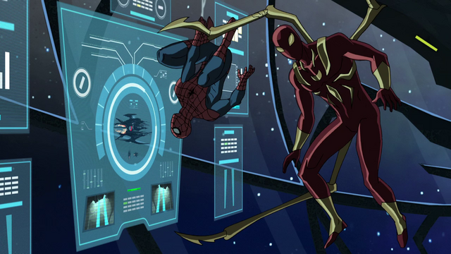 File:Iron Spider and Spider-Man USMWW 1.png