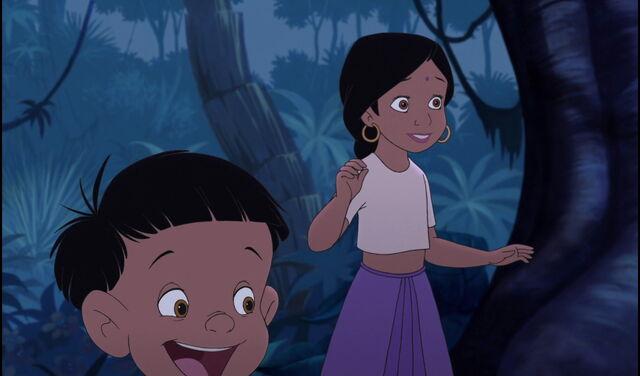File:Shanti and Ranjan are both glad Mowgli came back.jpg