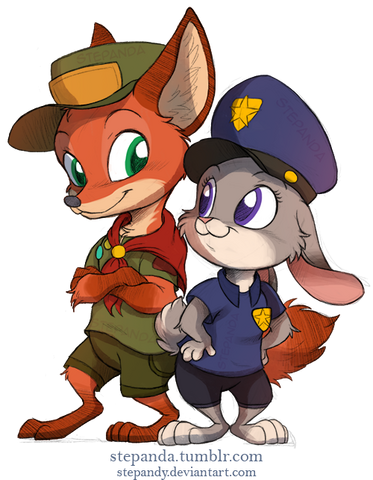 File:Nick wilde and judy hopps by stepandy-d9uzu83.png