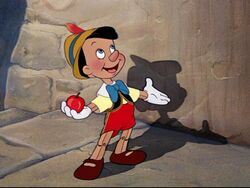 Pinocchio ready for school