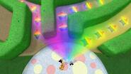 Rainbow shining different shapes