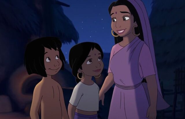 File:Shanti and mowgli and her mother.jpg