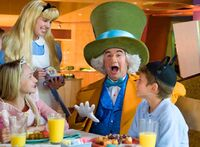 Mad hatter with alice