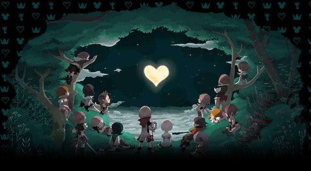 File:Kingdom Hearts χ artwork.png