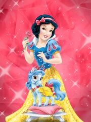 Princess Snow White and her horse