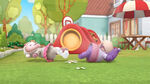 Lambie and hallie fell to the ground