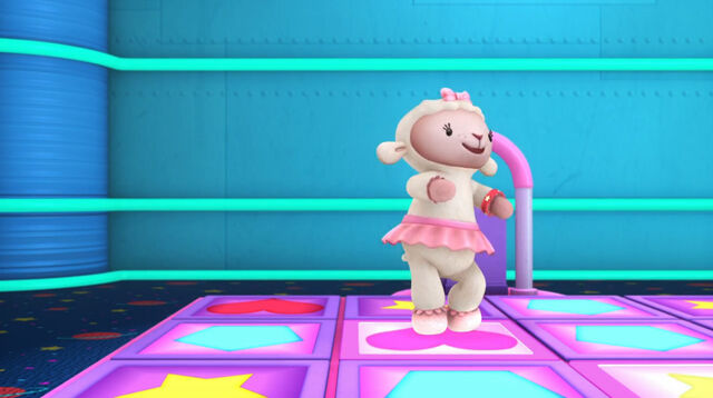 File:Lambie in a dancing game.jpg
