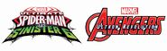 Ultimate Spider-Man vs The Sinsister 6 and Avengers Ultron Revolution Logos
