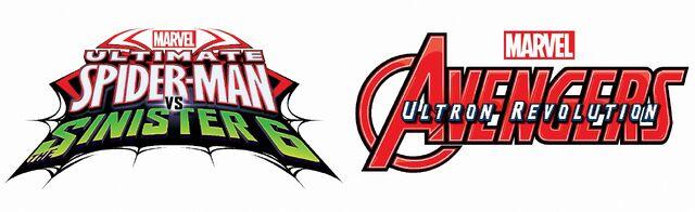 File:Ultimate Spider-Man vs The Sinsister 6 and Avengers Ultron Revolution Logos.jpg