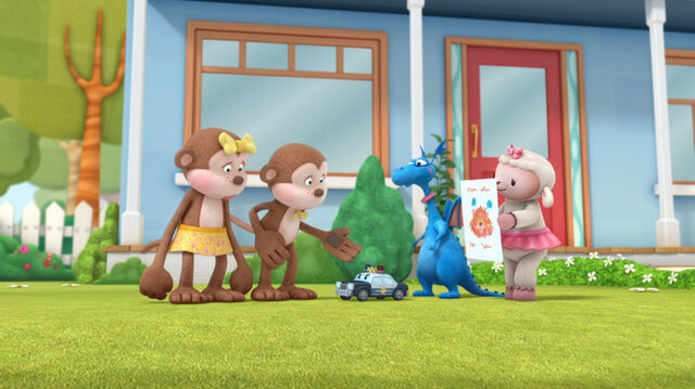 File:Stuffy, lambie, officer pete, ben and anna.jpg