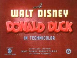 Spirit 43 - Average Donald Duck Title card - títol