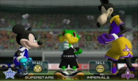 Mickey v.s Mortimer in Disney Sports Soccer