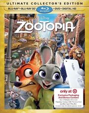 Zootopia 3D Blu-ray Exclusive Cover