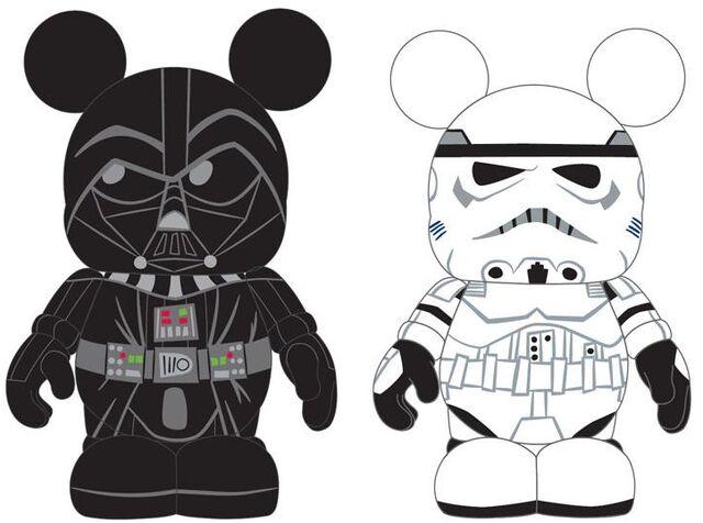 File:Disney Vinylmation Star Wars Series 1 Preview Artwork - Darth Vader and Stormtrooper.jpg