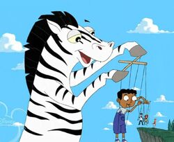 Talking Zebra Puppetmaster