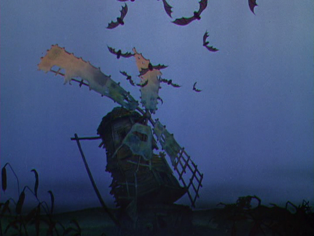 File:Bats coming out of The Old Mill in the morning.png