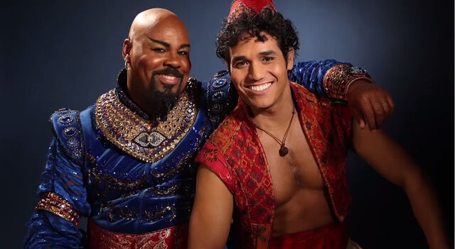 File:Genie and Aladdin on Aladdin the Broadway Musical 1.jpg