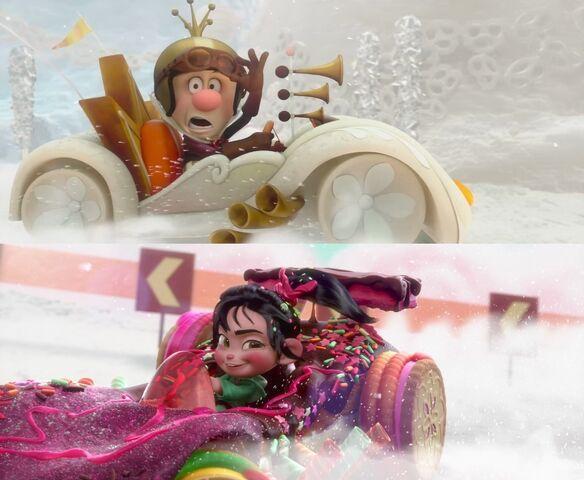File:Vanellope vs King Candy.jpg