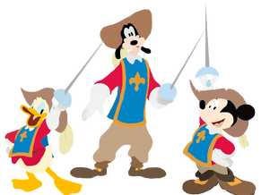 Mickey Donald Goofy The Three Musketeers Toystoryfan artwork