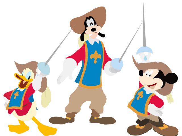 File:Mickey Donald Goofy The Three Musketeers Toystoryfan artwork.png