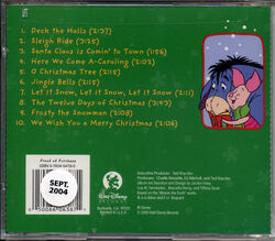 A pooh christmas back cover