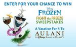Fight the freeze and bring back summer sweepstakes - disney frozen